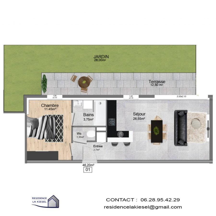 acheter appartement 2 pièces 46.2 m² hettange-grande photo 1