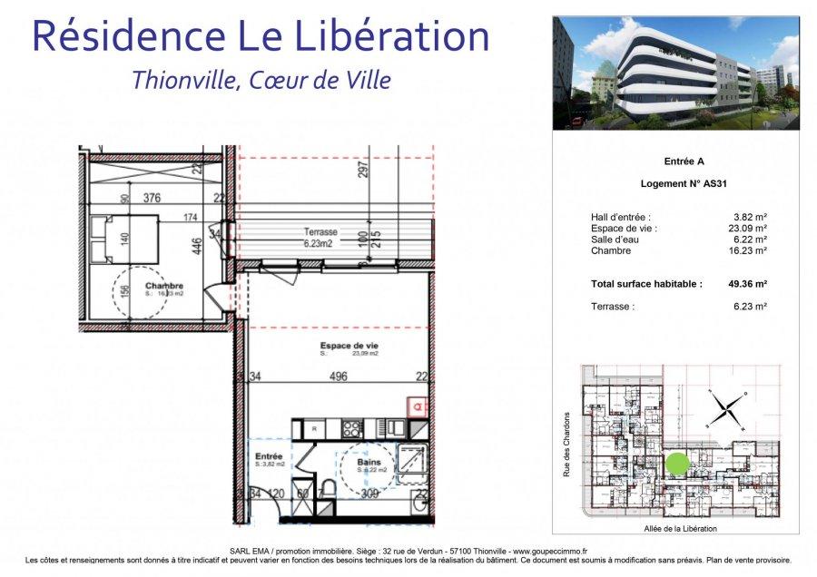 acheter appartement 2 pièces 49.36 m² thionville photo 2