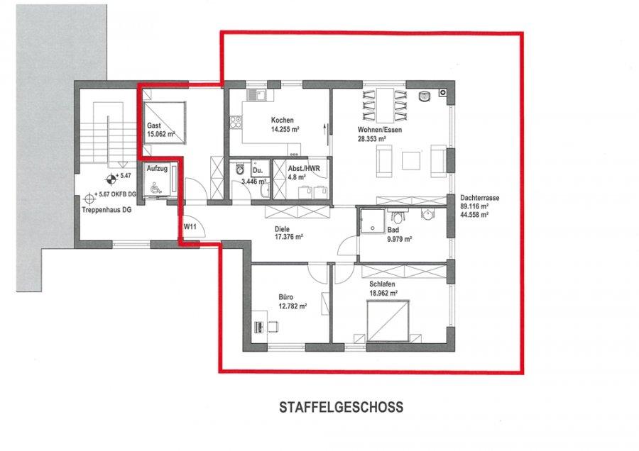 penthouse-wohnung mieten 4 zimmer 141.3 m² merzig foto 7