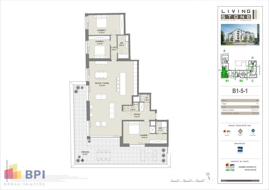 apartment for buy 3 bedrooms 172.8 m² luxembourg photo 2