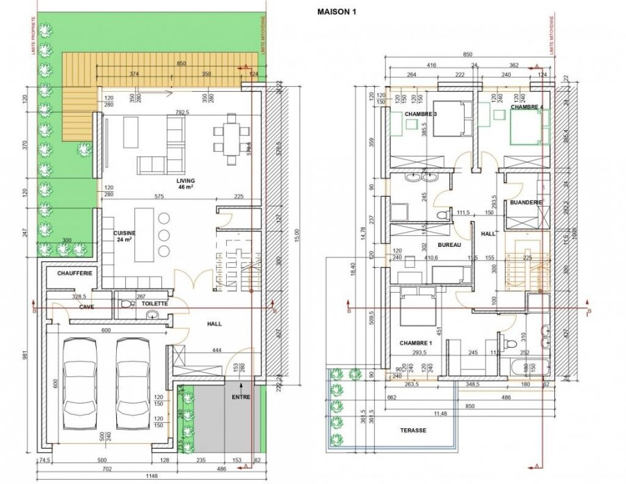 acheter maison jumelée 4 chambres 200 m² roullingen photo 4