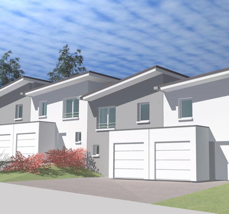 Construire maison mitoyenne simple maison villa vendre for Modele maison mitoyenne