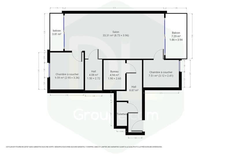 acheter appartement 0 pièce 77 m² mouscron photo 7