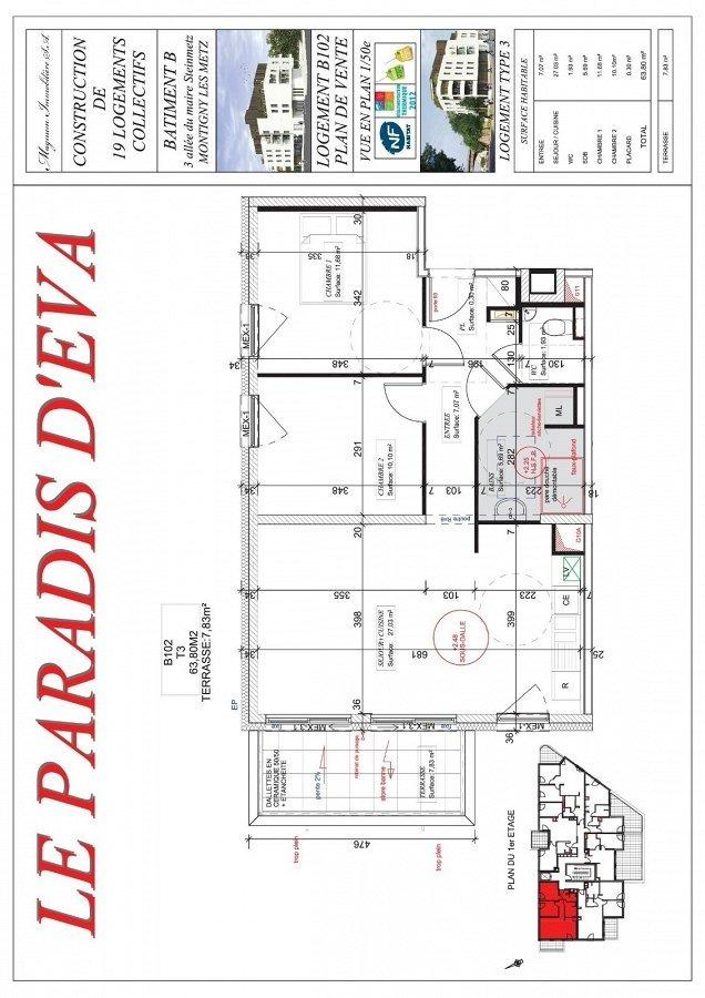 acheter appartement 3 pièces 63.8 m² montigny-lès-metz photo 3