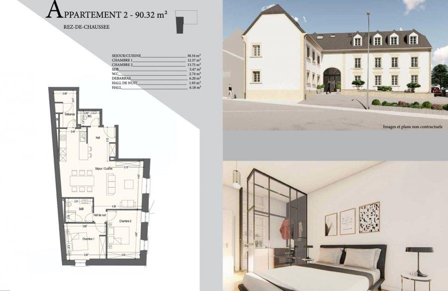 acheter appartement 2 chambres 90.32 m² mondercange photo 2