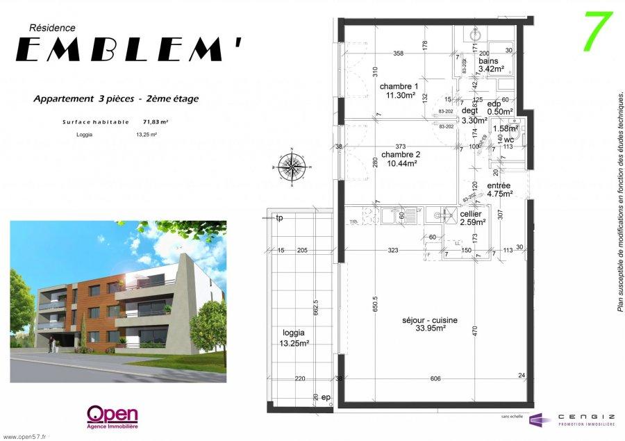 acheter appartement 3 pièces 71.83 m² hettange-grande photo 2