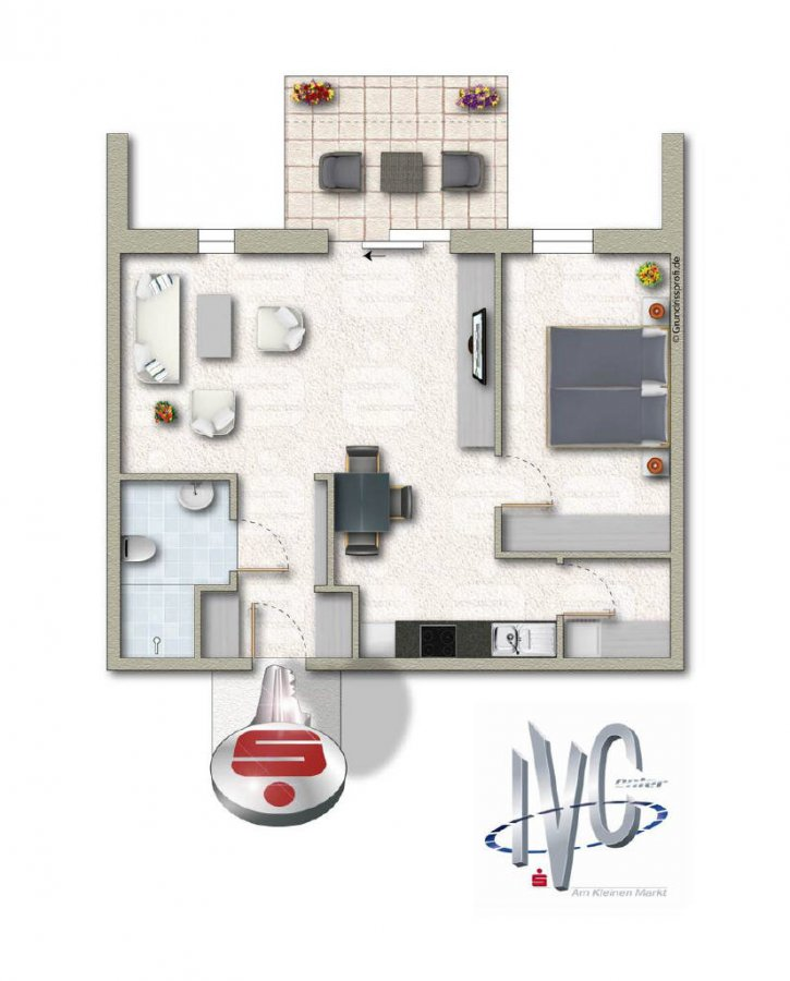 apartment for buy 2 rooms 56.99 m² überherrn photo 1