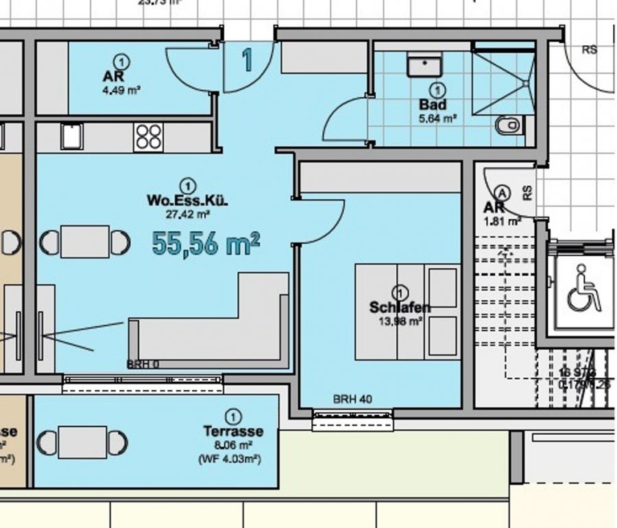 wohnung kaufen 2 zimmer 55.56 m² quierschied foto 5