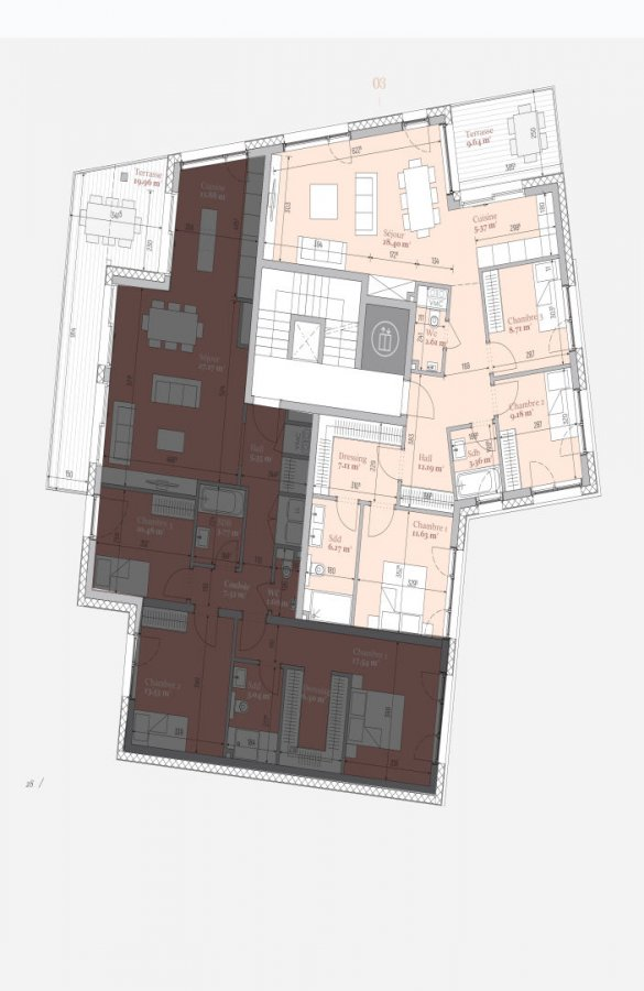 acheter appartement 3 chambres 98.51 m² mondercange photo 4