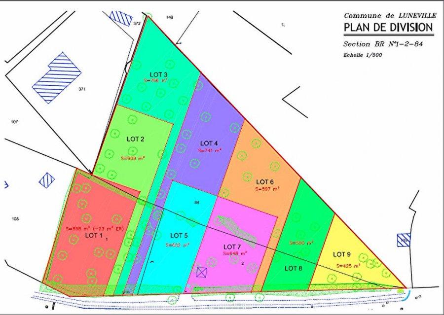 acheter terrain constructible 0 pièce 601 m² lunéville photo 1