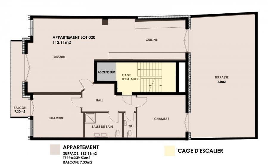 wohnung kaufen 2 schlafzimmer 112.11 m² kayl foto 3