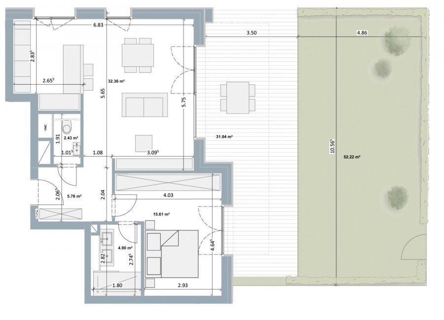acheter appartement 1 chambre 63 m² bertrange photo 2