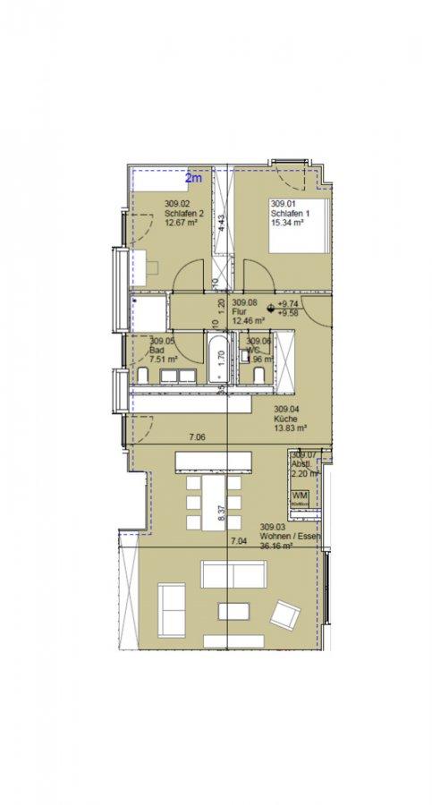 acheter appartement 2 chambres 102 m² echternach photo 2