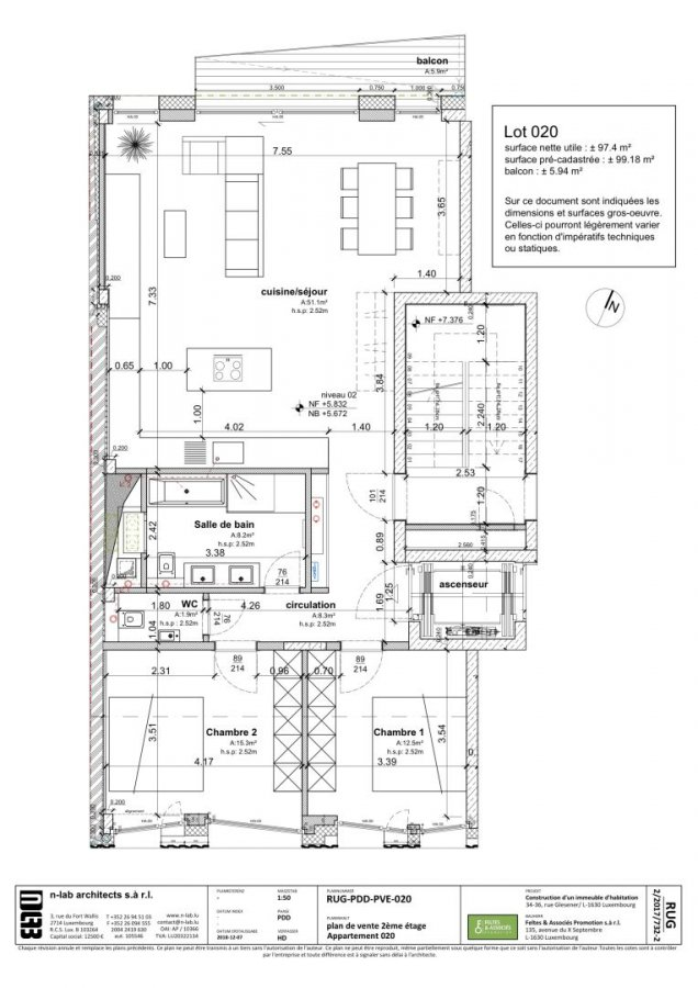 acheter appartement 2 chambres 98 m² luxembourg photo 2