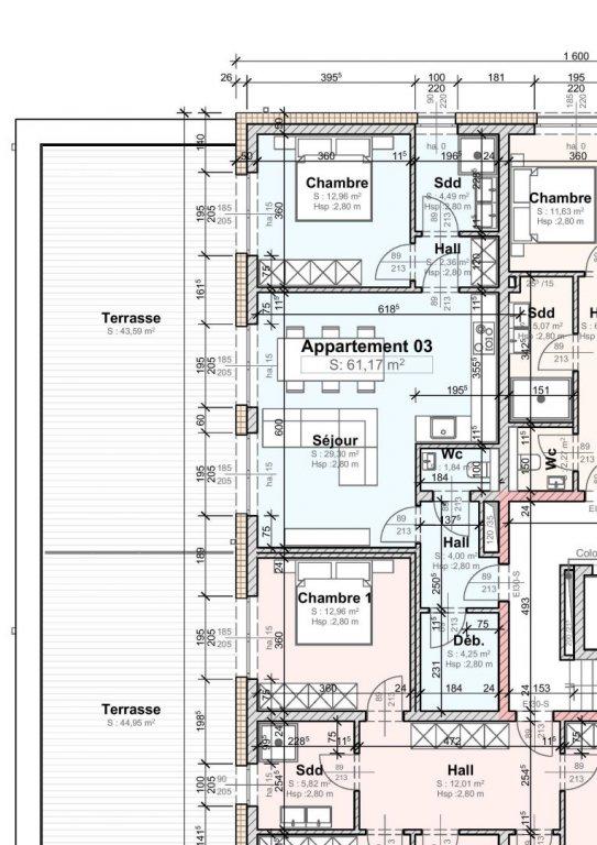 acheter appartement 1 chambre 61 m² wemperhardt photo 1