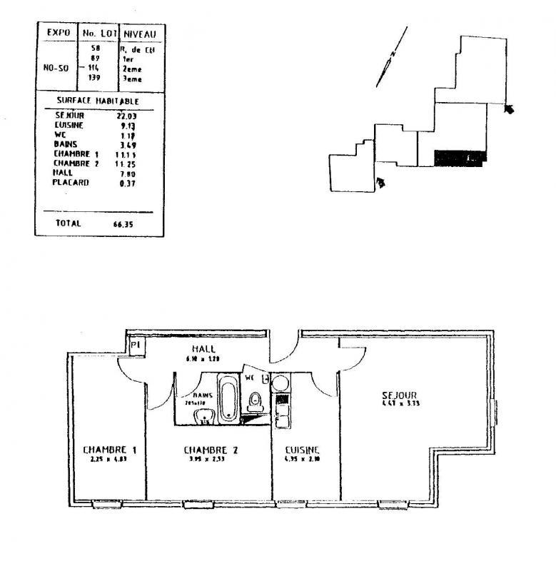 louer appartement 3 pièces 66 m² nancy photo 2