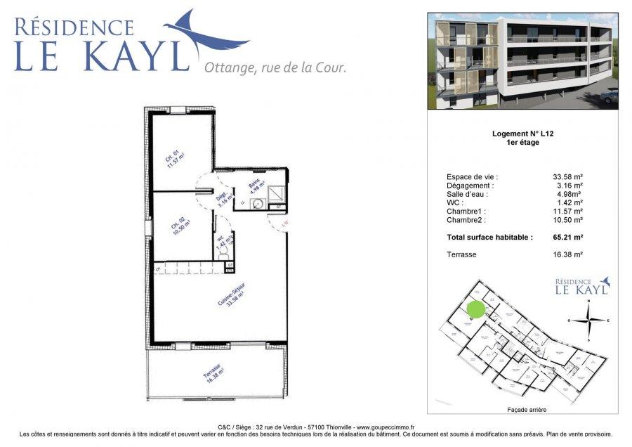 acheter appartement 3 pièces 65.21 m² ottange photo 3