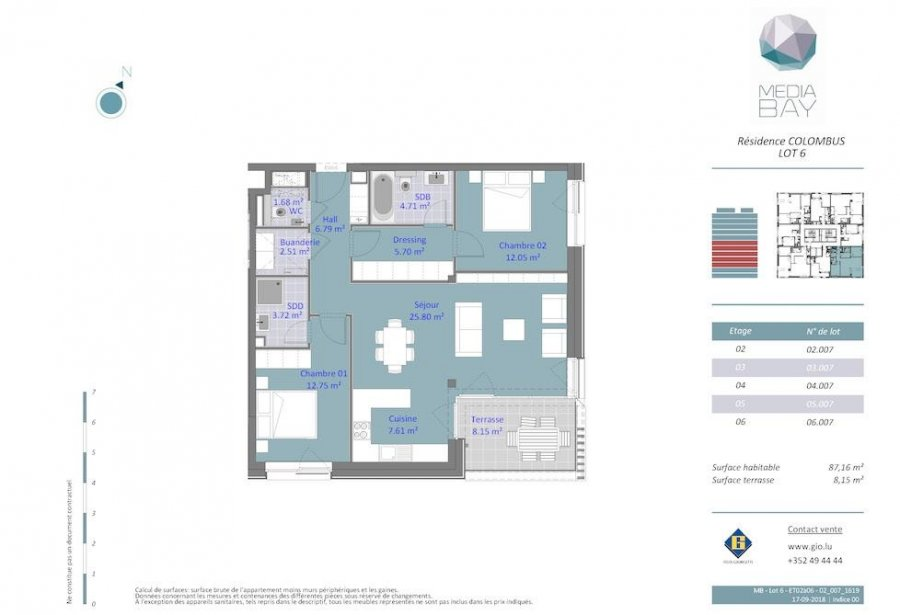 acheter appartement 2 chambres 87.16 m² luxembourg photo 4