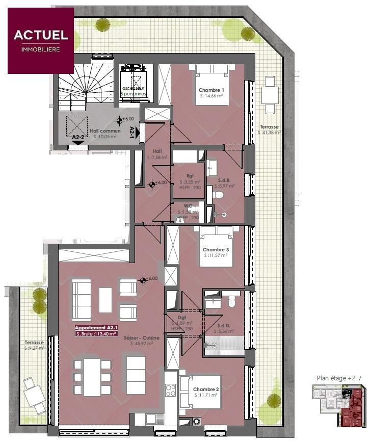 acheter penthouse 3 chambres 139 m² diekirch photo 3