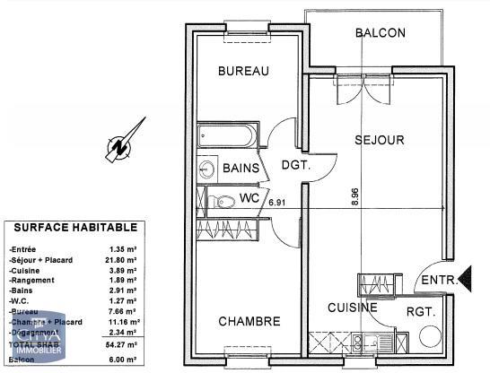 louer appartement 2 pièces 54 m² lunéville photo 7