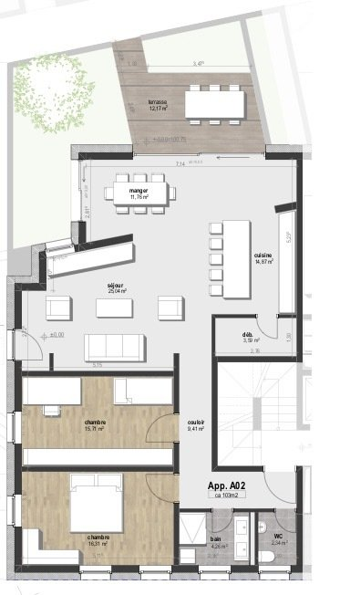 apartment for buy 2 bedrooms 103 m² machtum photo 4