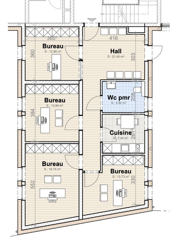 acheter bureau 0 chambre 95.66 m² imbringen photo 3