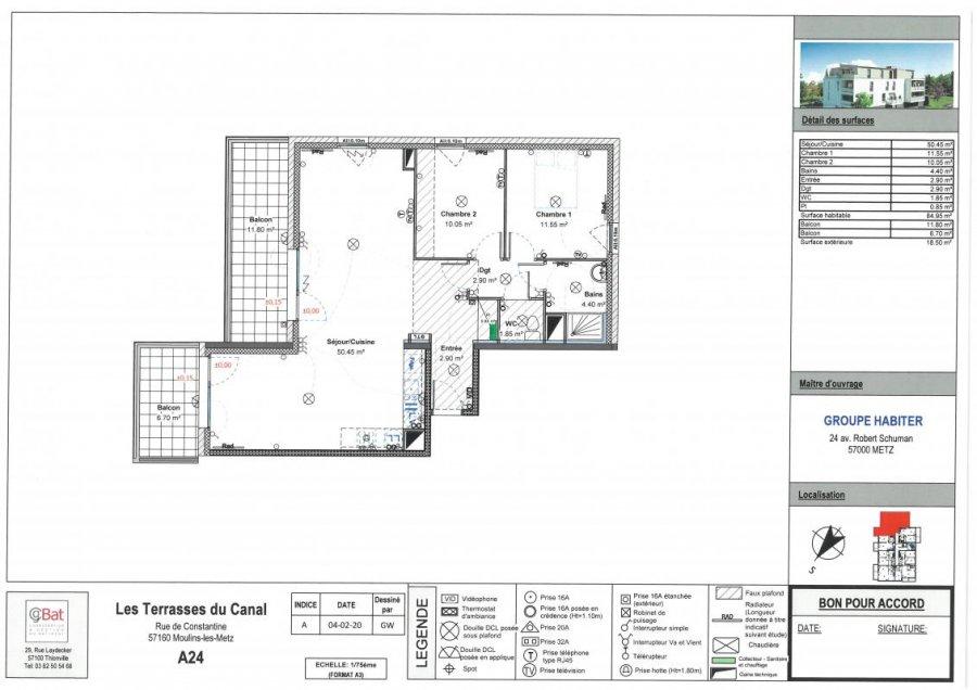 acheter appartement 4 pièces 84 m² moulins-lès-metz photo 1