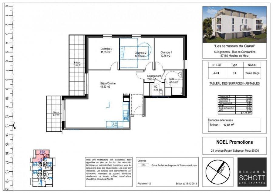 acheter appartement 4 pièces 87 m² moulins-lès-metz photo 1