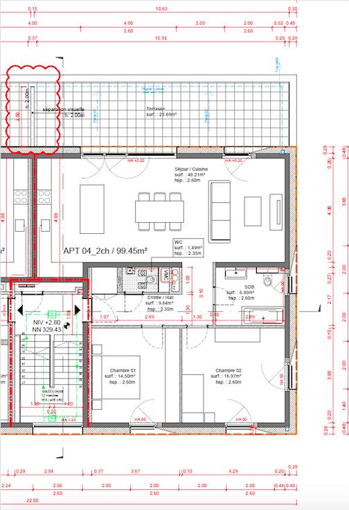 Appartement à vendre 2 chambres à Soleuvre