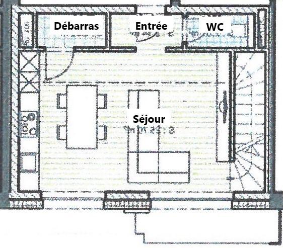 Duplex à louer 2 chambres à Harlange