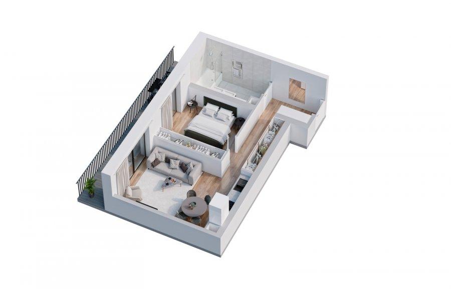 acheter appartement 1 chambre 49.86 m² belval photo 3