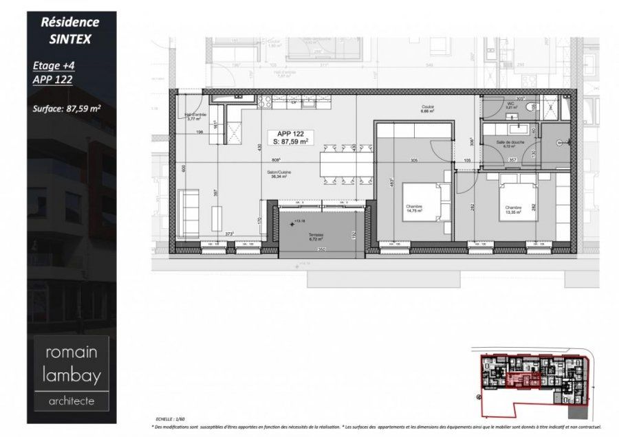 acheter penthouse 2 chambres 90.27 m² luxembourg photo 5