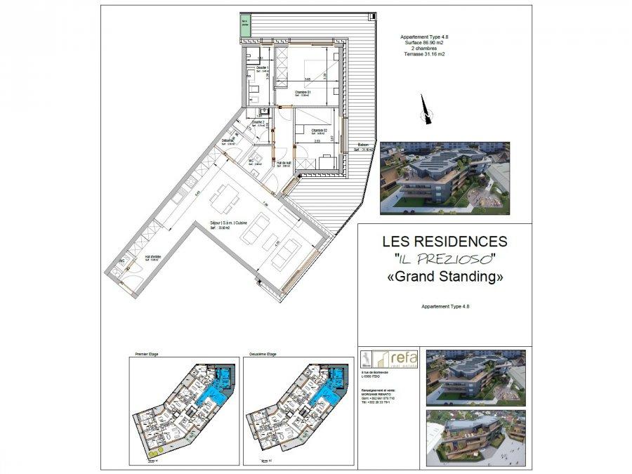 acheter appartement 2 chambres 98.25 m² helmsange photo 4