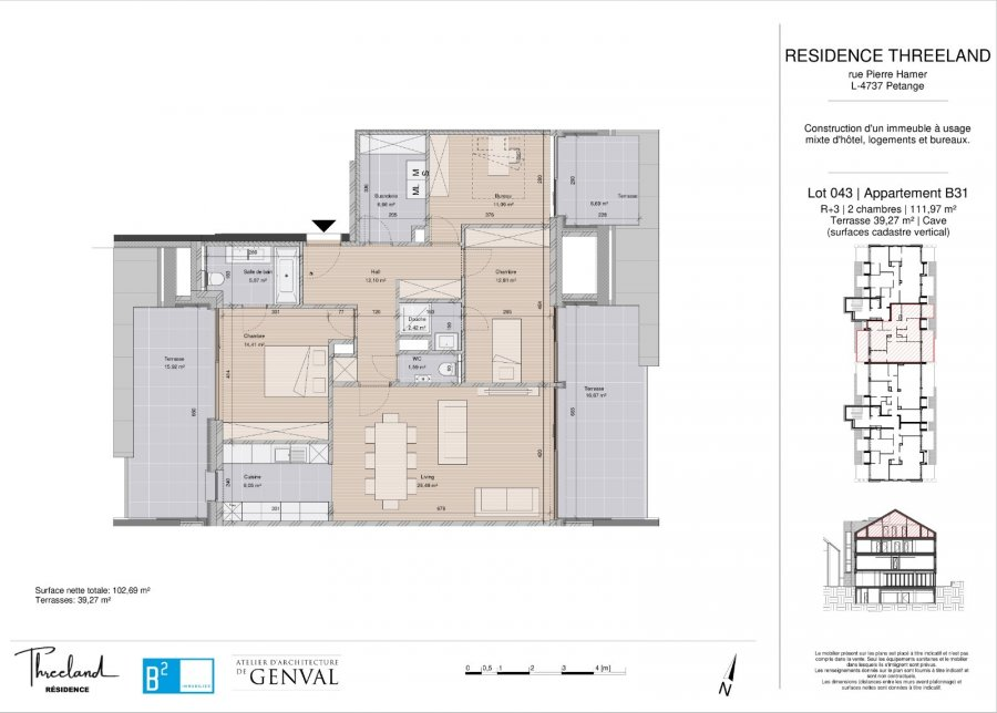 acheter appartement 3 chambres 112 m² pétange photo 2