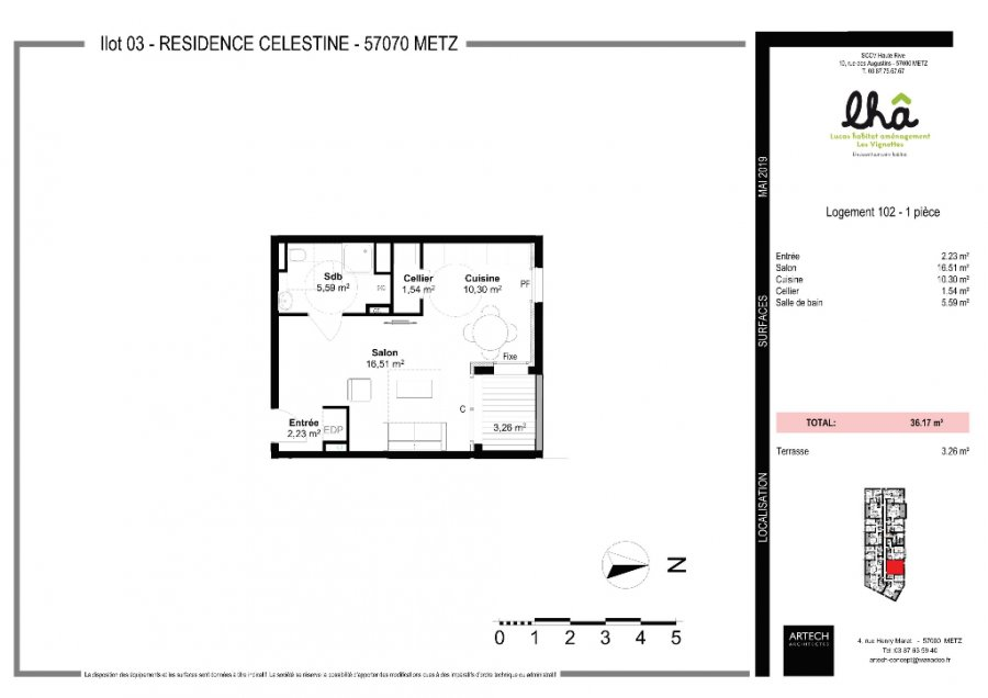 acheter appartement 1 pièce 36 m² metz photo 2
