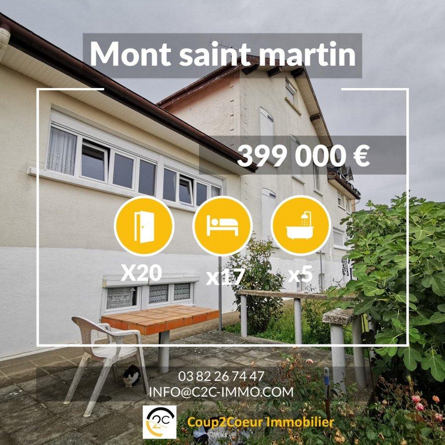 acheter immeuble de rapport 20 pièces 270 m² mont-saint-martin photo 1