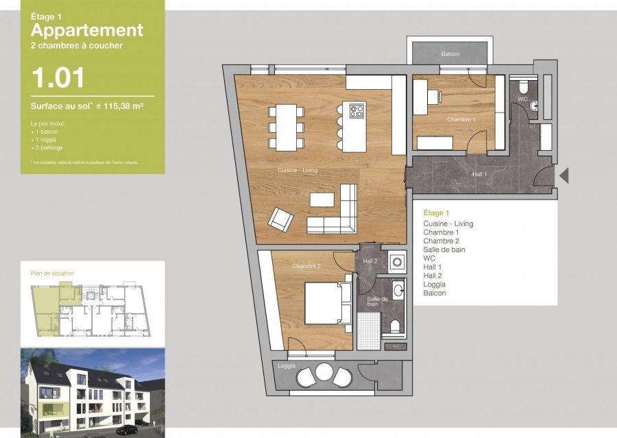 acheter appartement 2 chambres 115.38 m² clervaux photo 3