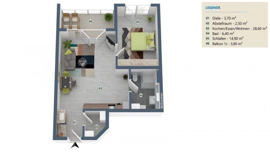 acheter penthouse 2 pièces 59.9 m² palzem photo 2