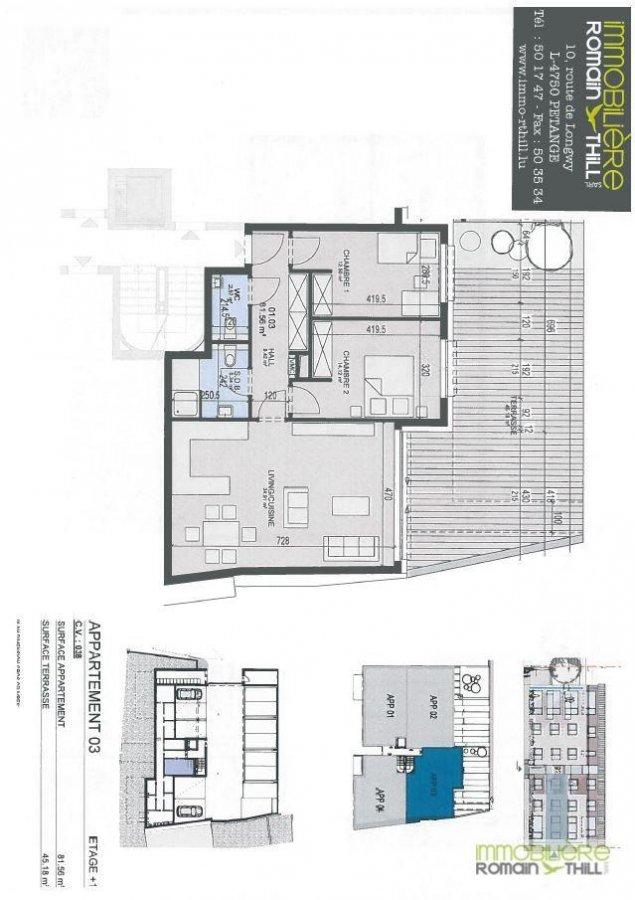 acheter appartement 2 chambres 82.09 m² rodange photo 2