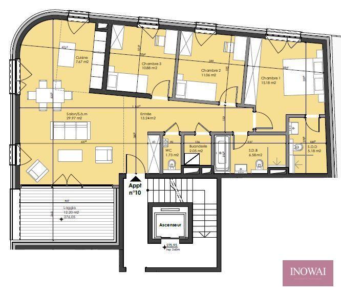 acheter appartement 3 chambres 109.25 m² berchem photo 2
