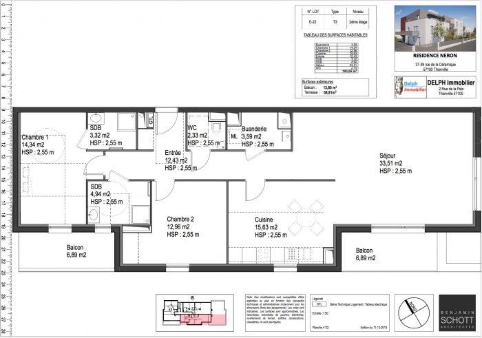 acheter appartement 3 pièces 104 m² thionville photo 1