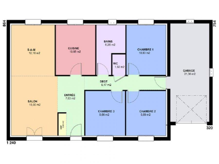 acheter maison 5 pièces 91 m² verny photo 3