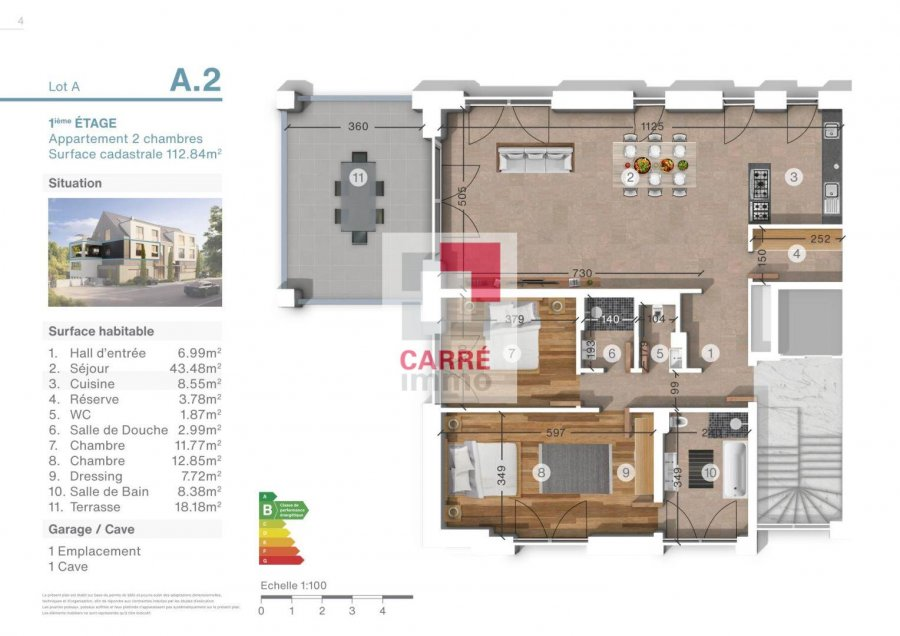 acheter appartement 2 chambres 112.84 m² luxembourg photo 3