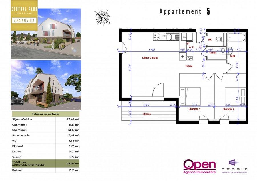 acheter appartement 3 pièces 64.62 m² noisseville photo 4