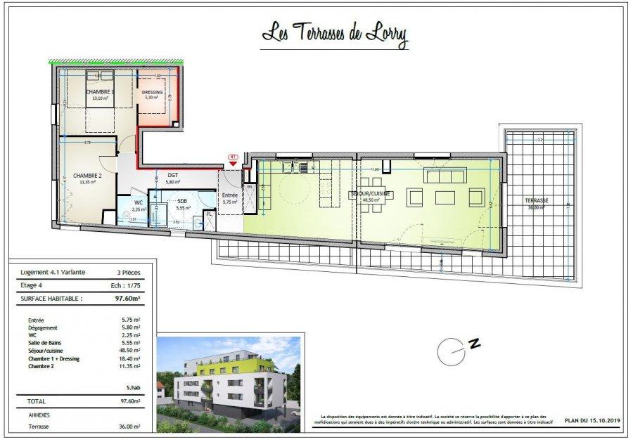 acheter appartement 4 pièces 96 m² metz photo 2