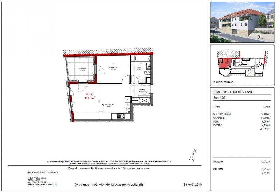 acheter appartement 2 pièces 46.81 m² thionville photo 3