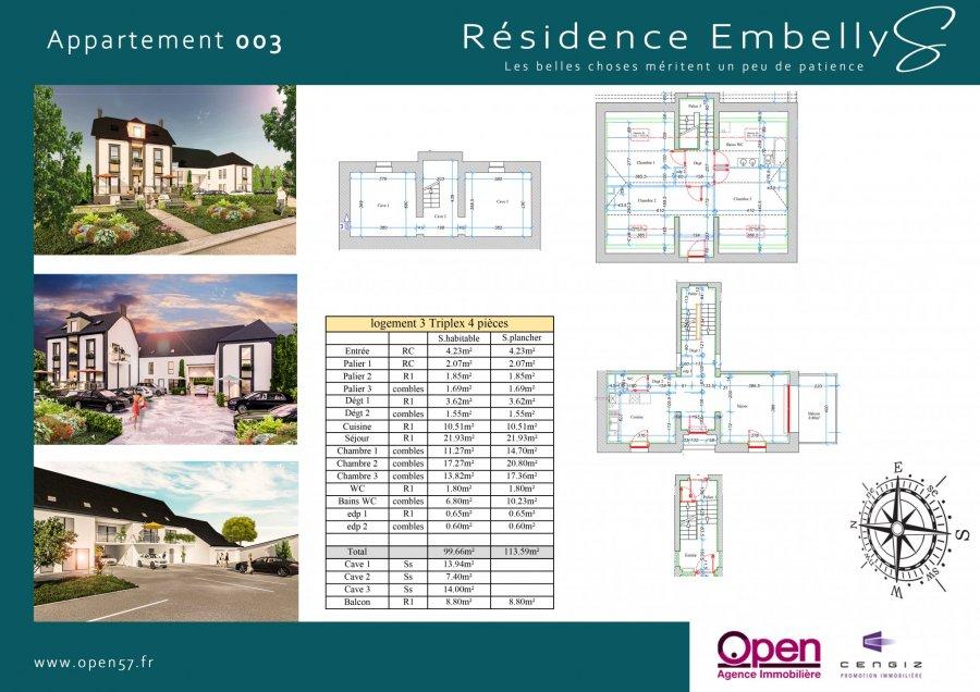 acheter appartement 4 pièces 99.66 m² zoufftgen photo 2