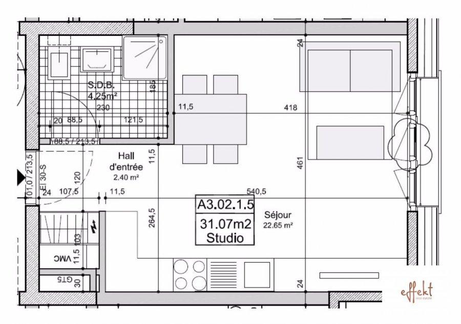 louer studio 0 chambre 31.07 m² luxembourg photo 2