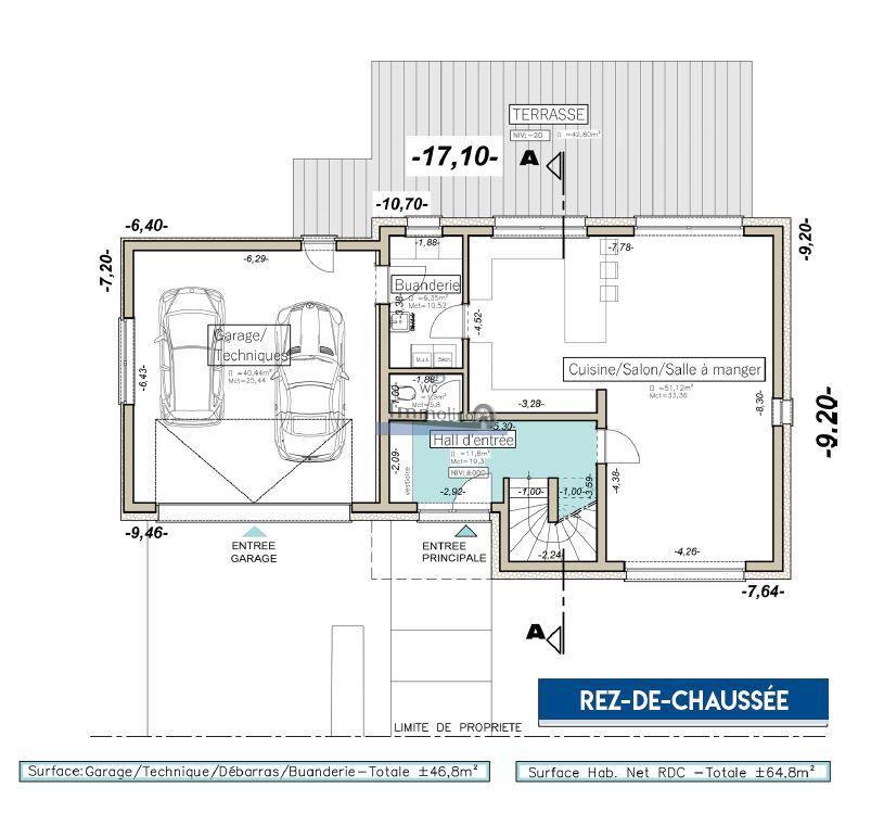 Maison à vendre 3 chambres à Reisdorf