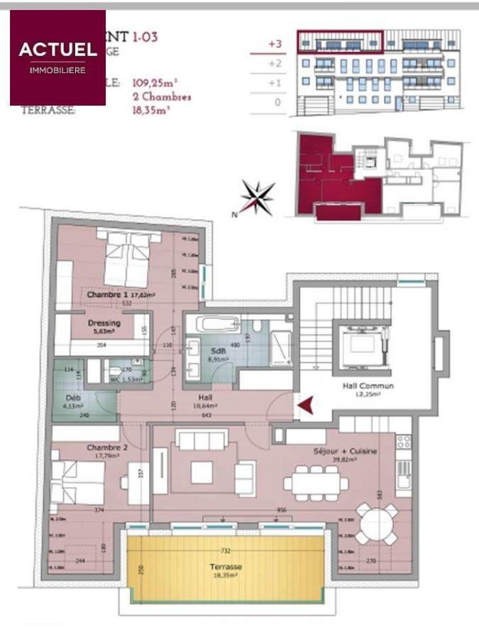 acheter appartement 2 chambres 127.6 m² rodange photo 2